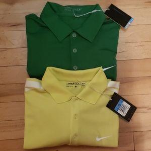 Lot of 2 Nike Golf Dri-Fit Polos NWT sz M